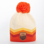 Local - Retro Chevron Beanie - Mont Iceland Leather Patch - Cream