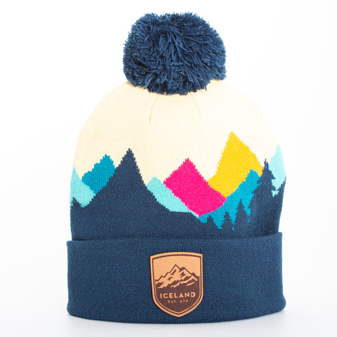 Local - Sierras Beanie - Mont Iceland Leather Patch - Teal