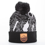 Local - Sunny Peaks Beanie - Mont Iceland Leather Patch - Black