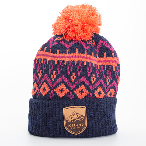 Local - Tivoli Beanie - Mont Iceland Leather Patch - Navy