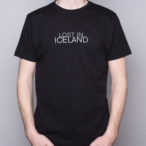 Lost in Iceland - T-Shirt - Black - Idontspeakicelandic