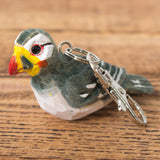 Puffin - Wooden Keychain