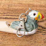Puffin - Wooden Whistle Keychain