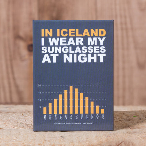 In Iceland i Wear My Sunglasses at Night - Magnet
