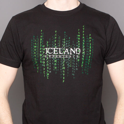 Iceland Matrix - T-Shirt - Black