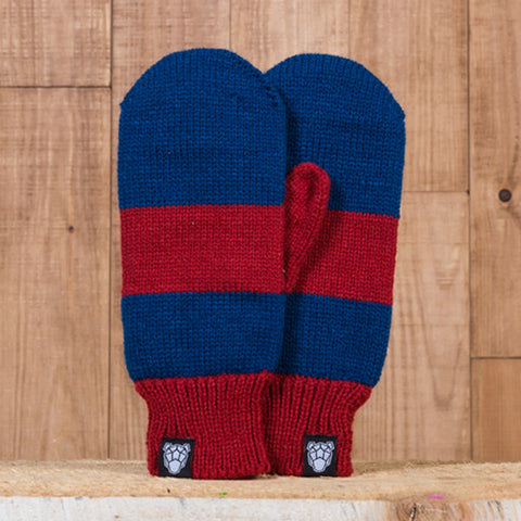 Iceland Mittens - Navy Blue/Red