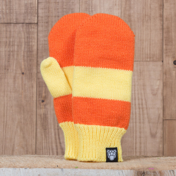 Iceland Mittens - Orange/Brown