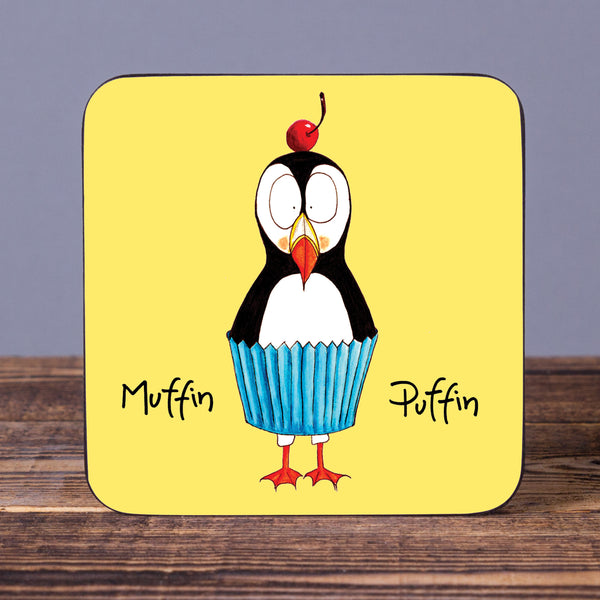 Muffin Puffin - Cork Coaster