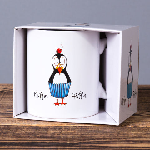 Muffin Puffin - Mug In a Box - White