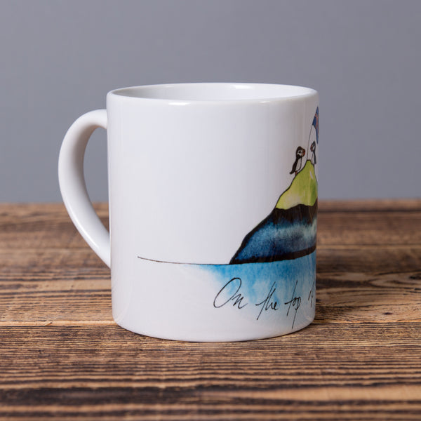 On The Top Of The World - Small Ceramic Mug - White