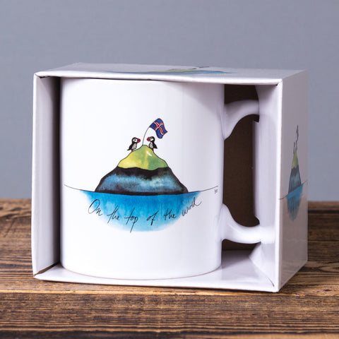 On The Top Of The World - Mug In a Box - White - Idontspeakicelandic