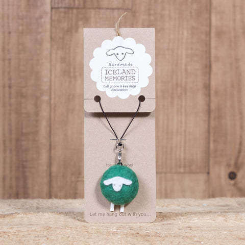 Iceland Memories - Cell Phone and Keyring Decor - Dark Green