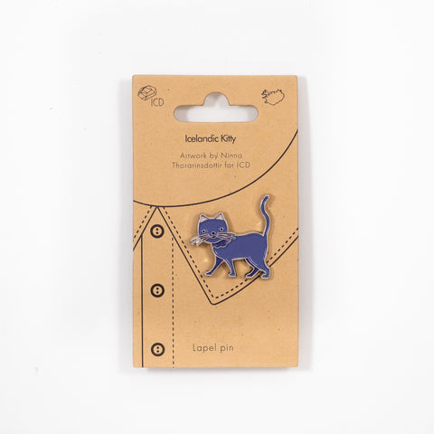 ICD - Lapel Pin - Icelandic Kitty