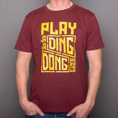 Play JAJA Ding Dong - T-Shirt - Burgundy