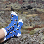 Socks- Puffins - Blue/White - New