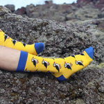Socks - Puffins - Yellow/Blue - New