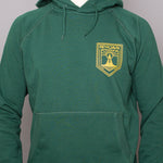 Unisex Hoodie Sweatshirt - Reykjavik Church - Bottle Green