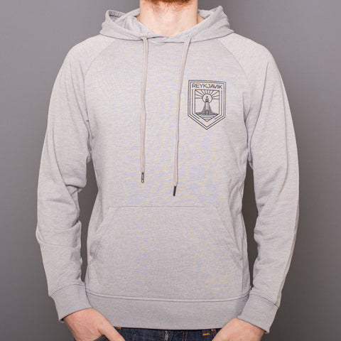 Unisex Hoodie Sweatshirt - Reykjavik Church - Gray