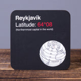 Reykjavik Latitude - Set of 6 Cork Coasters - Idontspeakicelandic