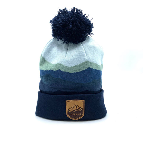 Rangers Beanie Steel - Mont Iceland Leather Patch