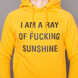 Unisex Hoodie Sweatshirt - Ray of fucking Sunshine - Happy Yellow