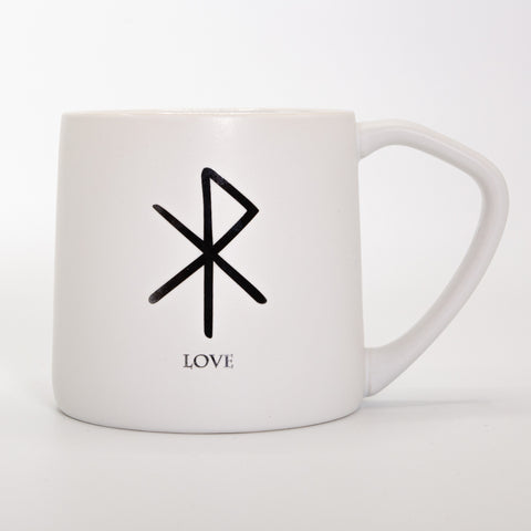 Rune Mug - Love - Ceramic Mug - White