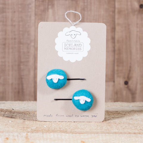 Iceland Memories - Hair Clip - Icelandic Memories - Light Blue