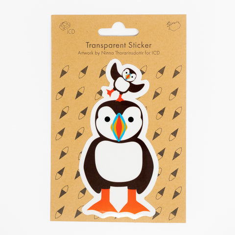 ICD -  Transparent Sticker - Puffin