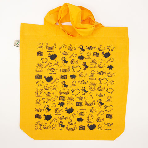 Tote Bag - Iceland Doodles - Gold