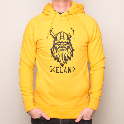 Unisex Pullover Hoody - Angry Viking - Happy Yellow