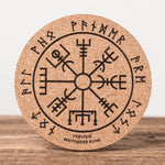 Wayfinder Rune - Set of 6 Round Cork Coasters