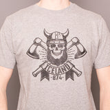 Viking Axes bones- T-Shirt - Gray