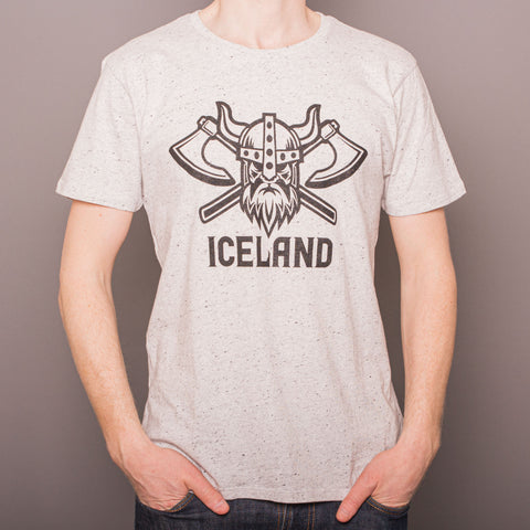 Viking Axes- T-Shirt - Gray Marl