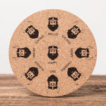 Viking Feelings - Set of 6 Round Cork Coasters - Idontspeakicelandic