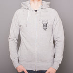 Unisex Zip-Up Hoody - Viking Iceland - Gray