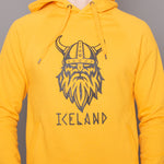 <transcy>Sweat à capuche unisexe - Viking Iceland - Happy Yellow</transcy>