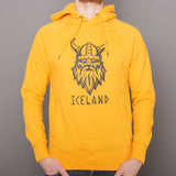 Unisex Pullover Hoody - Viking Iceland - Happy Yellow