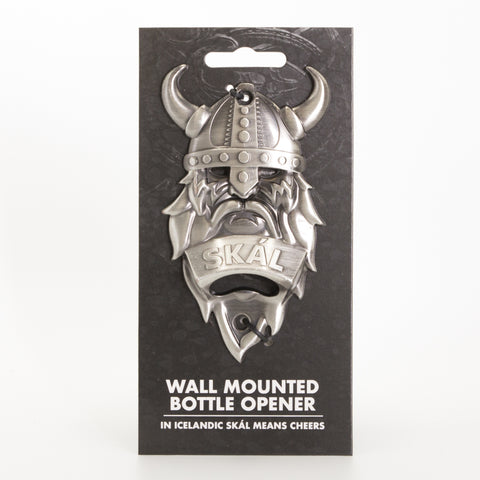 Viking Wall Mounted - Bottle Opener - Silver - Idontspeakicelandic
