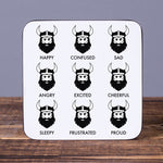 Viking Feelings - Set of 6 Cork Coasters - Idontspeakicelandic