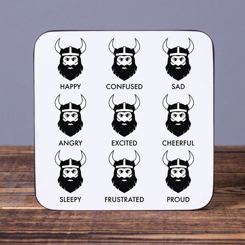 Viking Feelings - Set of 6 Cork Coasters