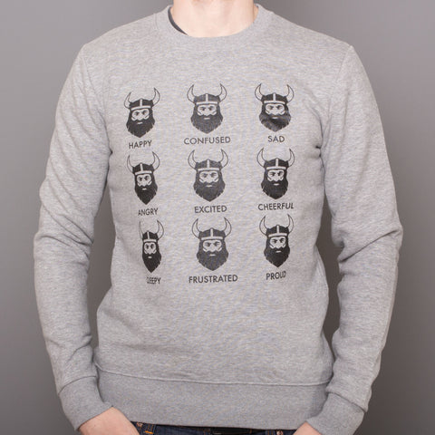 Unisex Pullover Raglan - Viking Feelings - Gray