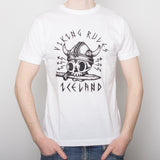 Viking Rules - T-Shirt - White - Idontspeakicelandic