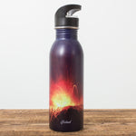 Volcano Erutpion - Water Bottle - Idontspeakicelandic