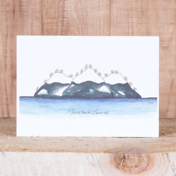 Postcard - Mountain Lambs