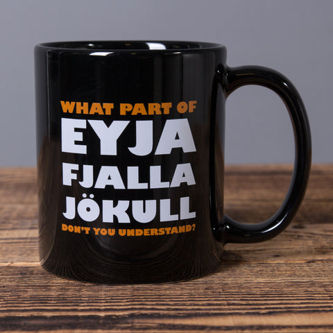 What Part Eyjafjallajökull... - Ceramic Mug - Black