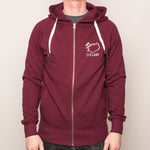 Unisex Zip-Up Hoody - Iceland - Burgundy