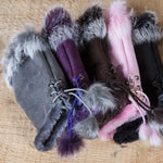 Arctic Fur Shortgloves - Ladies - Purple - Idontspeakicelandic