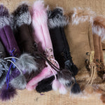 Arctic Fur Shortgloves - Ladies - Pink - Idontspeakicelandic