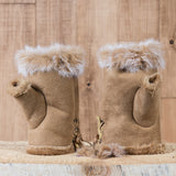 Arctic Fur Shortgloves - Ladies - Light Brown - Idontspeakicelandic
