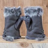 Arctic Fur Shortgloves - Ladies - Gray